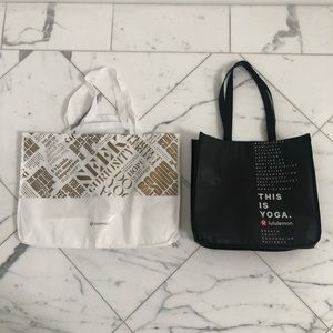 Lululemon Shopping Bags- Set of 2